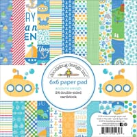 Doodlebug: Anchors Aweigh Paper Pad 6x6 inch, 24/Pkg