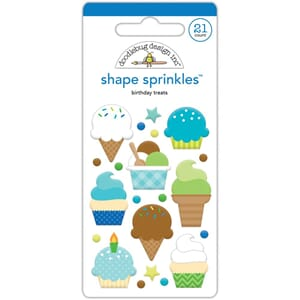 Doodlebug: Birthday Treats Sprinkles Enamel Shapes