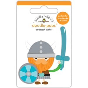 Doodlebug: Dragon Tails Wee Warrior - 3D Stickers
