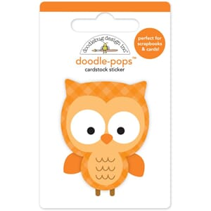 Doodlebug: Flea Market Night Owl, 3D Stickers