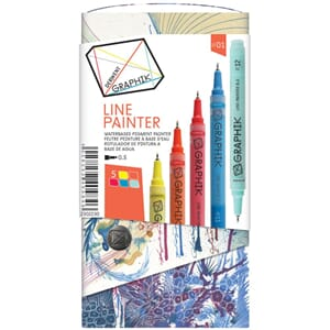 Derwent: Graphik Line Painter Set 1, 5/Pkg