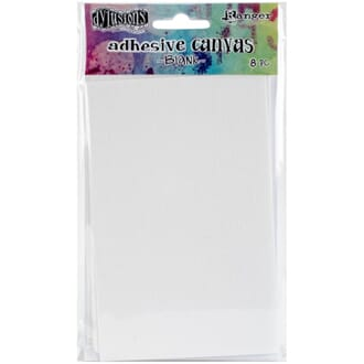 Dyan Reaveley's: Dylusions Adhesive Canvas, 8/Pkg
