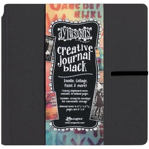 Dylusion: Black Creative Journal by Dyan Reaveley, 8x8 inch