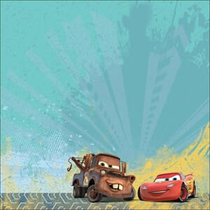 EK Success: Mater & Mc Queen - Disney Flat Paper, 12x12 inch