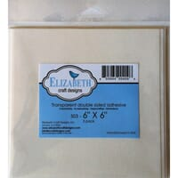 Elizabeth Craft: 15x15 cm - Clear Adhesive Sheets 5/Pkg
