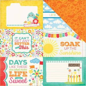 Echo Park Paper: 4x6 Journaling Cards - I Love Sunshine