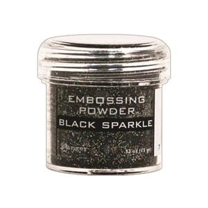 Ranger: Black Sparkle - Embossing powder 1oz