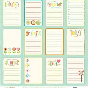 Echo Park Paper: Sweety Summertime - Journal Card Paper