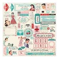 Authentique: Details Fabulous Cardstock Stickers, 12x12 inch
