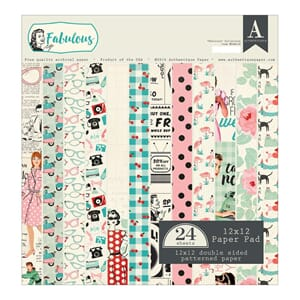 Authentique: Fabulous Cardstock Pad, 12x12, 24/Pkg