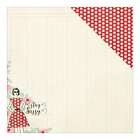 Authentique: Eight, Stay Sassy/Red & White Dot - Fabulous