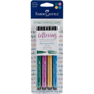 Mix & Match Jewel PITT Artist Brush Pens 4/Pkg