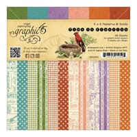 Graphic 45: Prints & Solids Time To Flourish Paper Pad, 36Pk