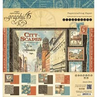 Graphic 45: Cityscapes Paper Pad, 24/Pkg