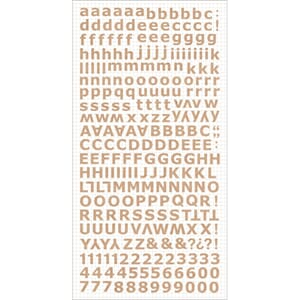 Kaisercraft: Natural - Alphabet Stickers, 6x12 inch