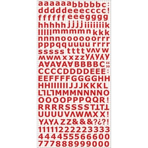 Kaisercraft: Red - Alphabet Stickers, 6x12 inch