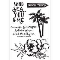 Kaisercraft: Island Escape Clear Stamps, 6x4 inch