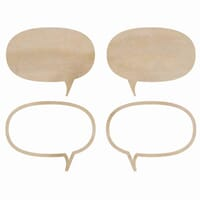 Kaisercraft: Speech Bubbles  - Wood Flourishes 4/Pkg