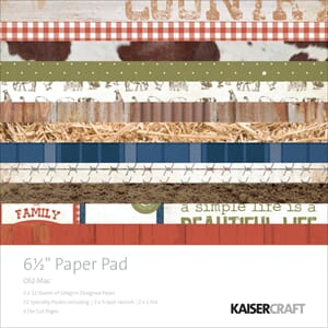 Kaisercraft: Old Mac Paper Pad, 40/Pkg