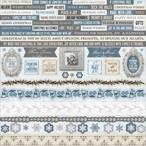 Kaisercraft: Frosted Cardstock Stickers, 12x12 inch