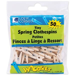 Loew-Cornell: Naturral - Woodsies Tiny Clothespins