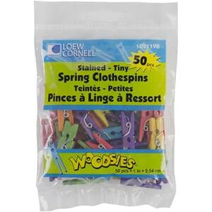 Loew-Cornell: Colored - Woodsies Tiny Spring Clothespins