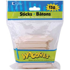 Loew-Cornell: Woodsies Mini Craft Sticks 150/Pkg