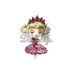 Little Darlings: Tabitha - Dollhouse Cling Mounted Stamp