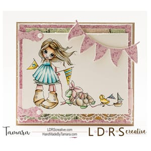 Little Darlings: Parade - Mounted Rubberstamps