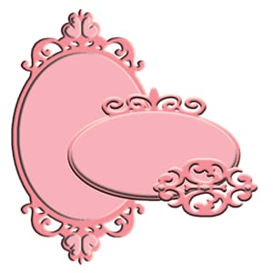 Little Darlings: Glided Oval Labels - Dies sett, 3 stk