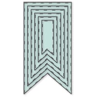 Little Darlings: Basic Stitched Flags - Dies sett, 6 stk