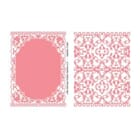 Little Darlings: Majestic Embossing Folders, 2 stk