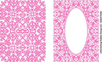 Little Darlings: Glided Embossing Folders, 2 stk