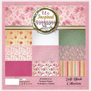 LDRS: Soft Blush 6x6 Paper Pack, 24/Pkg