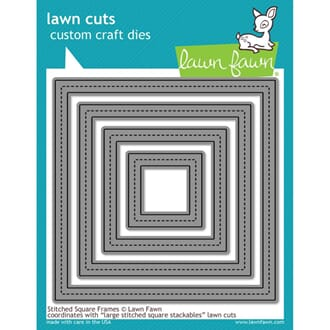 Lawn Fawn: Stitched Square Frames - Lawn Cuts Die