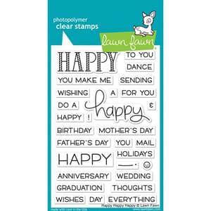 Lawn Fawn: Happy Happy Happy Clear Stamps, 4X6 inch