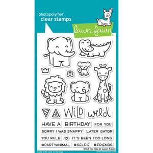 Lawn Fawn: Wild For You Clear Stamps, 4X6 inch