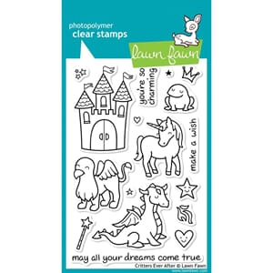 Lawn Fawn: Critters Ever After Clear Stamps, 4x6