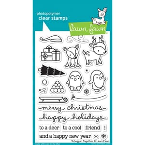 Lawn Fawn: Toboggan Together Clear Stamps, 4x6