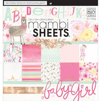 Mambi: She's So Lovely Paper Pad, 12x12 inch, 48/Pkg