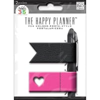 MMB: Pink & Black Create 365 Happy Planner Pen Holder 2/Pkg
