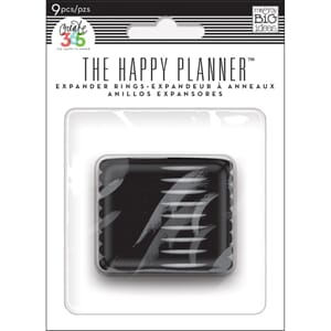 Create 365 Planner Black Expander Rings 9/Pkg