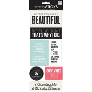 MMB: Be Your Own Beautiful - Sayings Stickers