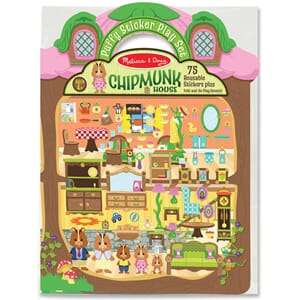 Chipmunk House 71 Stickers - Puffy Sticker Play Set