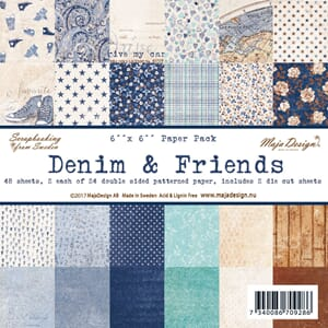 Maja Design: Denim & Friends - Paper stack, str 6x6 inch