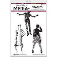Dina Wakley: Silhouetted Women - Media Cling Stamps