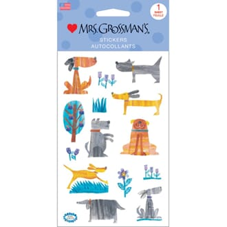 Mrs Grossman - Collaged Dogs 14/Pkg