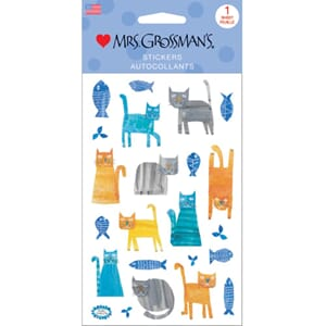 Mrs Grossman - Collaged Cats 22/Pkg