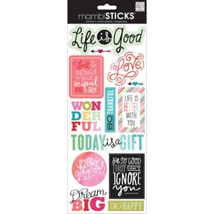 Me & My Big Ideas: Life Is Good - Sayings Stickers