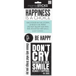 Me&My Big Ideas: Happiness Is A Choice - Sayings Stickers